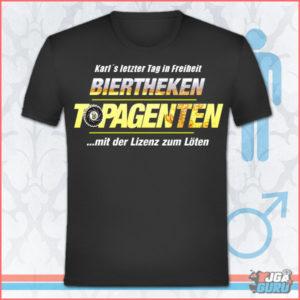 JGA Shirt Biertheken Topagenten