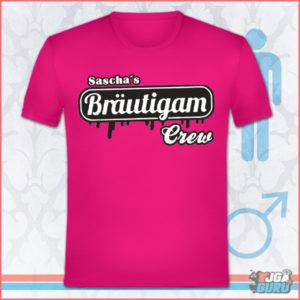 JGA Shirt Bräutigam Crew